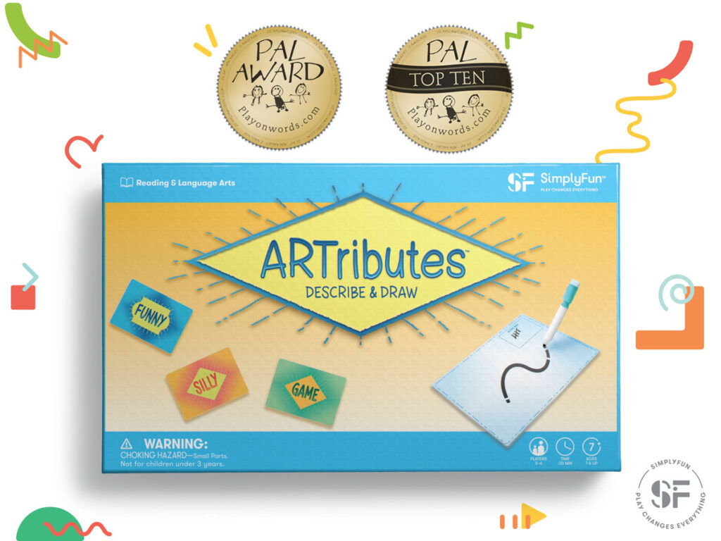 ARTributes creative drawing board game