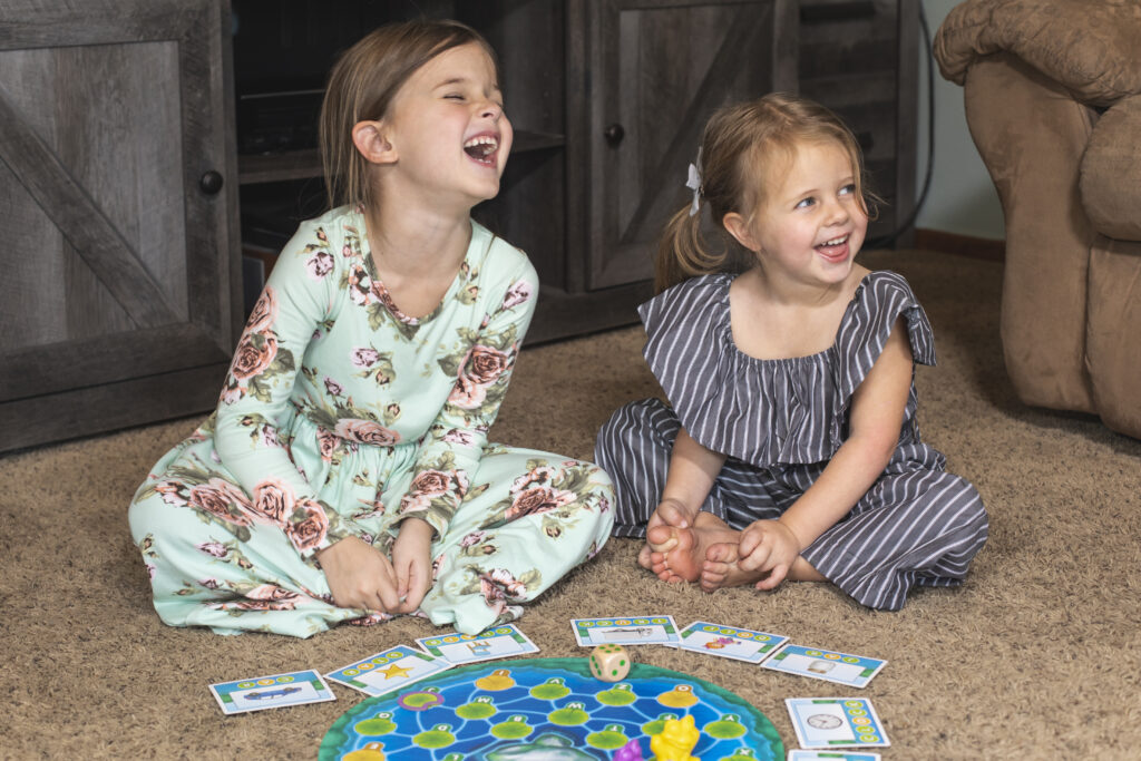 girls playing lily pond game