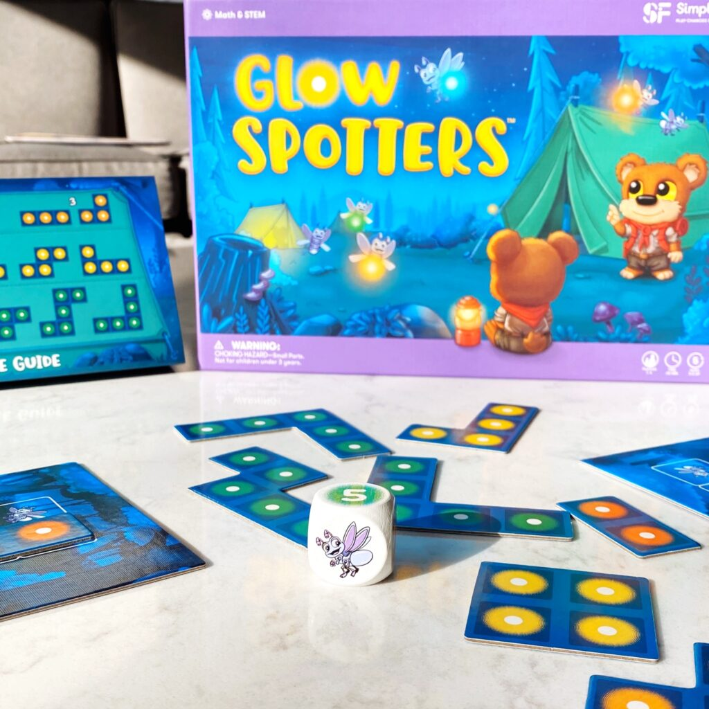 Glow Spotters math game by SimplyFun